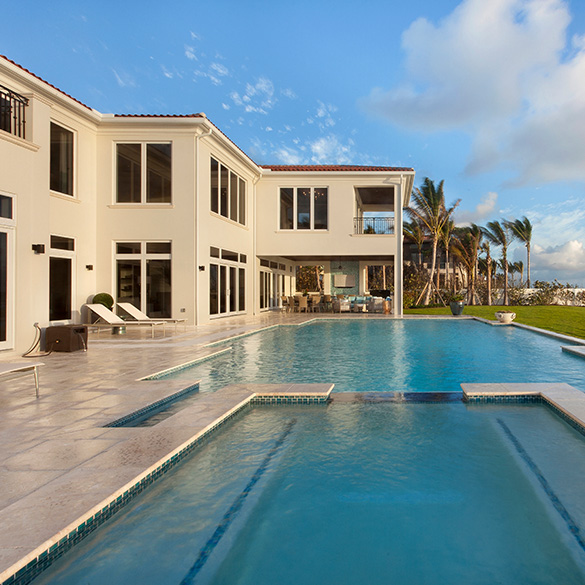 This Florida residence was designed/built by Dale Construction with CGI Estate Collection windows and doors.