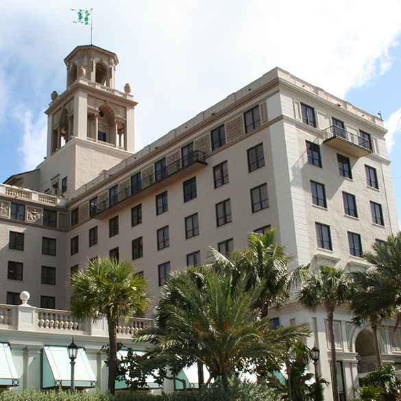This 5-star Palm Beach hotel was designed/built with CGI Commercial and Estate Collection impact windows and doors.