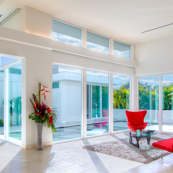 The Himelfarb project was designed by Jonathan Parks with CGI Estate Collection impact windows and doors.