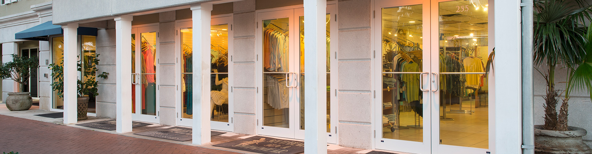 CGI Commercial storefront windows and doors can beautify and secure retail spaces.