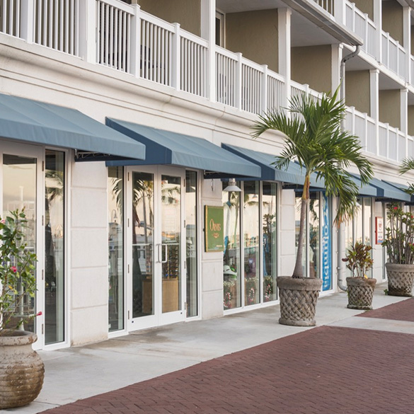 Key West's Westin Key Resort and Marina was designed with CGI Commercial storefront window walls and storefront entry doors.