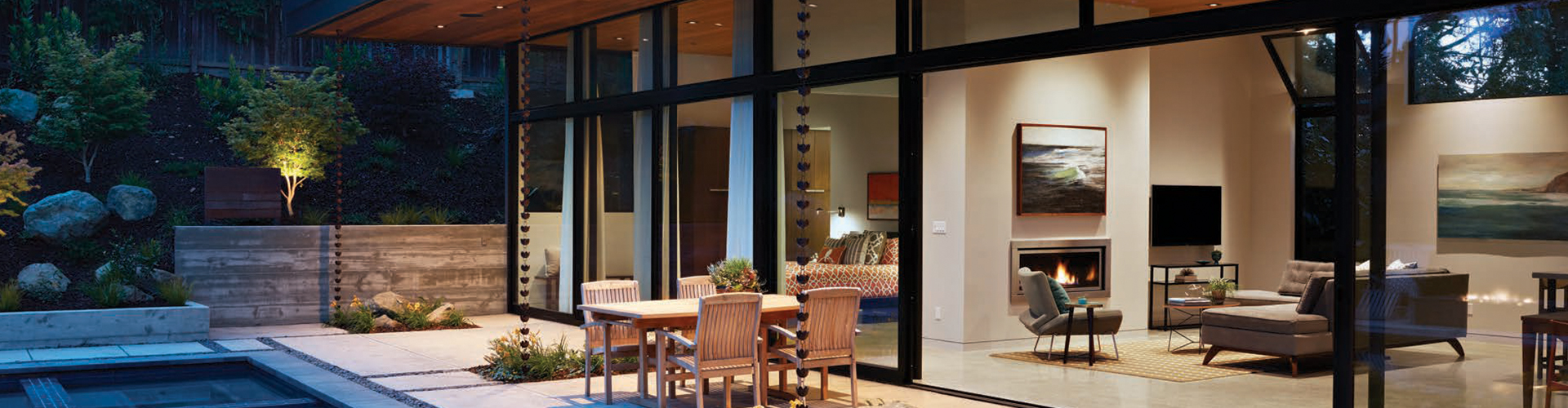Indoor-outdoor living is possible with the window and door options from Western Window Systems.