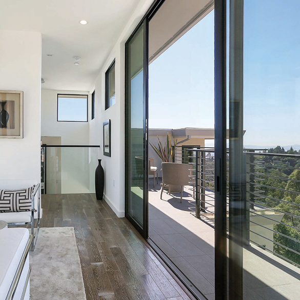 Sliding glass doors and architectural windows from Western Window Systems beautify residential spaces.