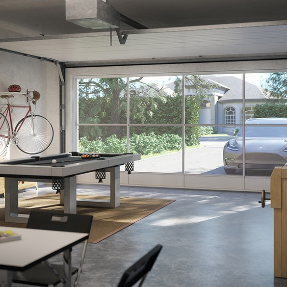 Garages can be transformed into living spaces with an Eze-Breeze enclosure system.